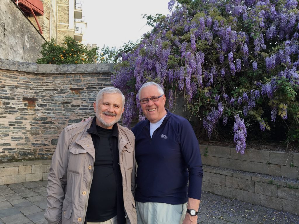 Bill and Eric at Vatopedi Monastery