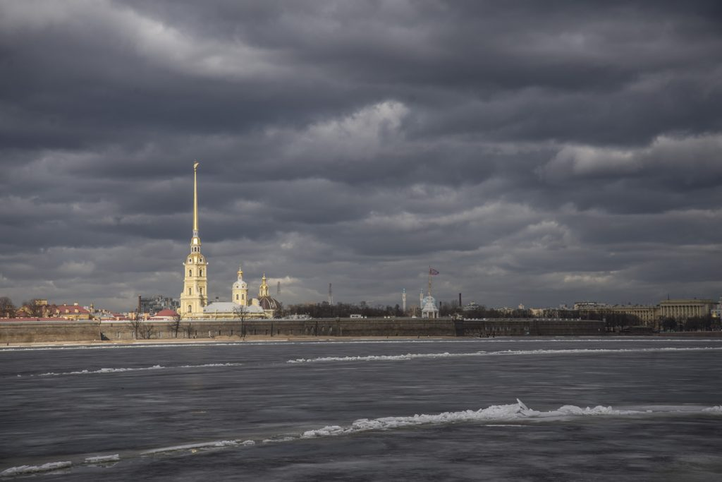 Frozen Neva w_ Peter & Paul Fortress