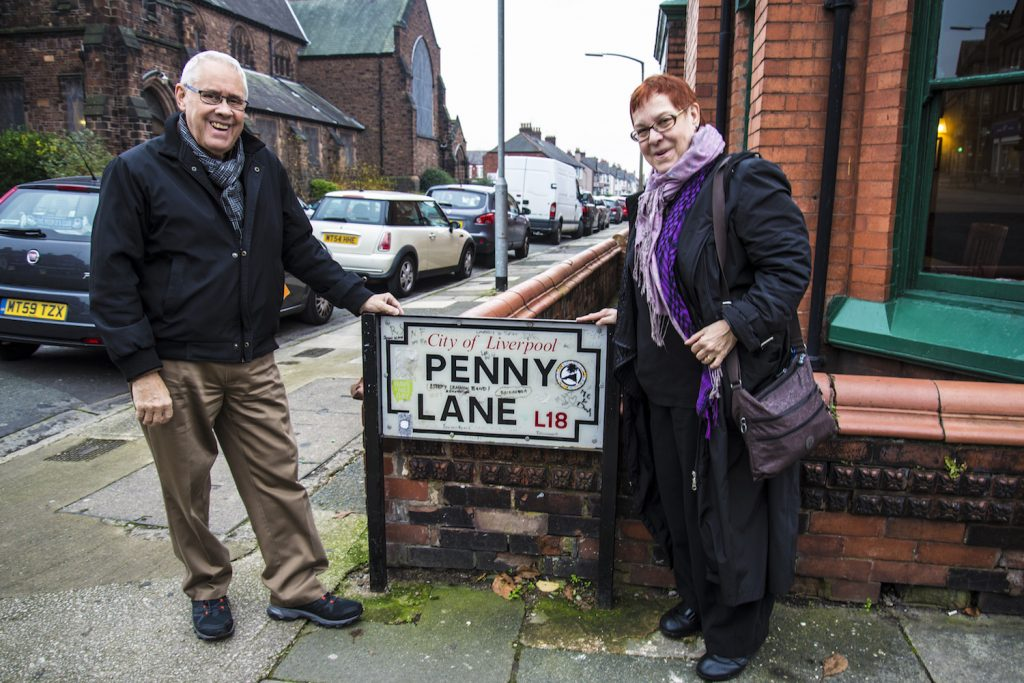 Kay & Me on Penny Lane