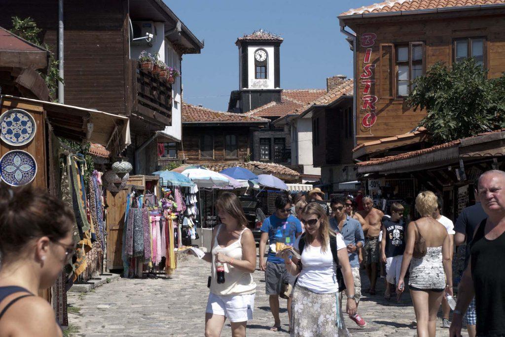 Nesebar Crowded Main Street