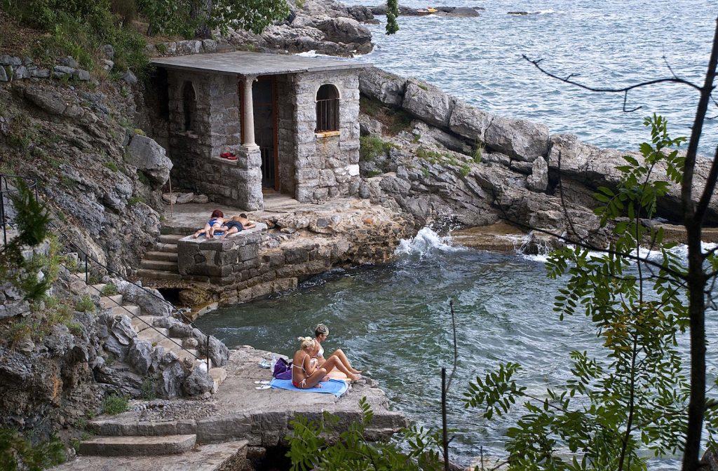 Sunbathing on the Rocks Near Lovran