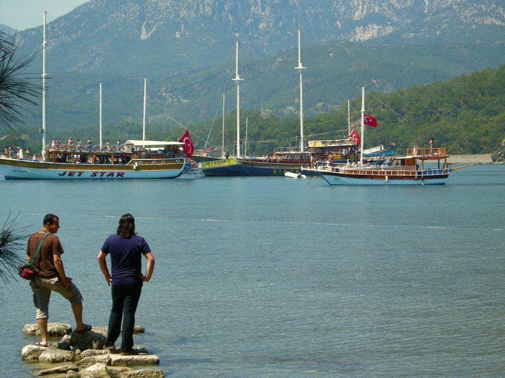 Party Boats at Phaselis