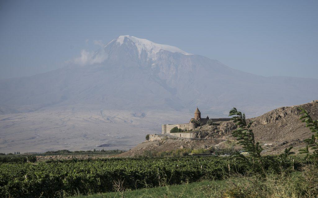 Mt Ararat from Khor Virap