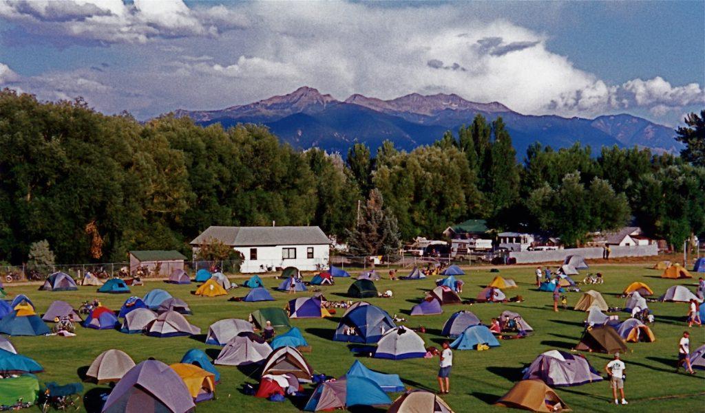 Camping at Ennis