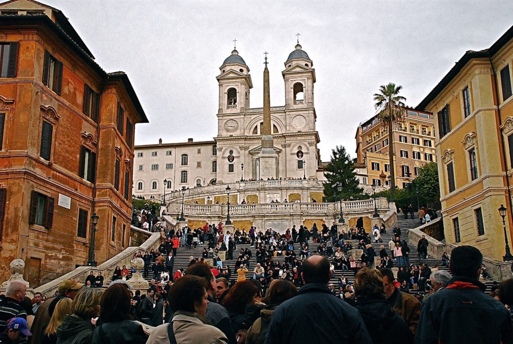 In Front of the Spanish Steps