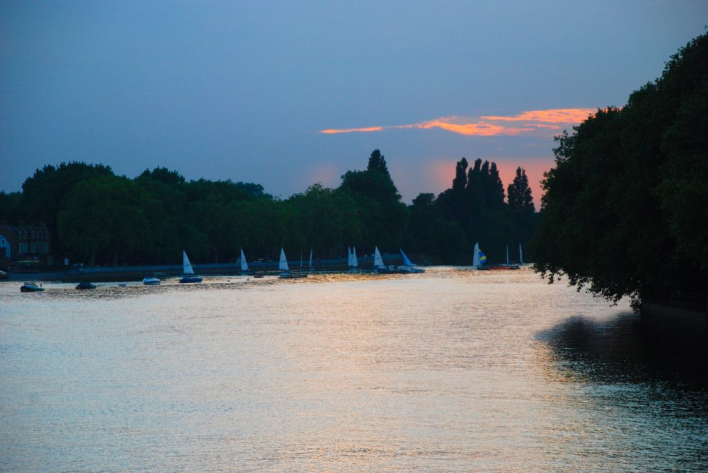 The Thames Looking West at Twilight