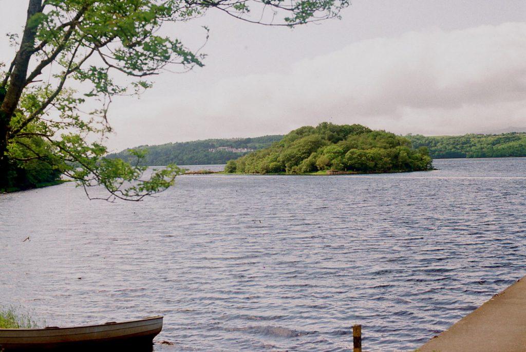 Island of Innisfree in Lake Gill