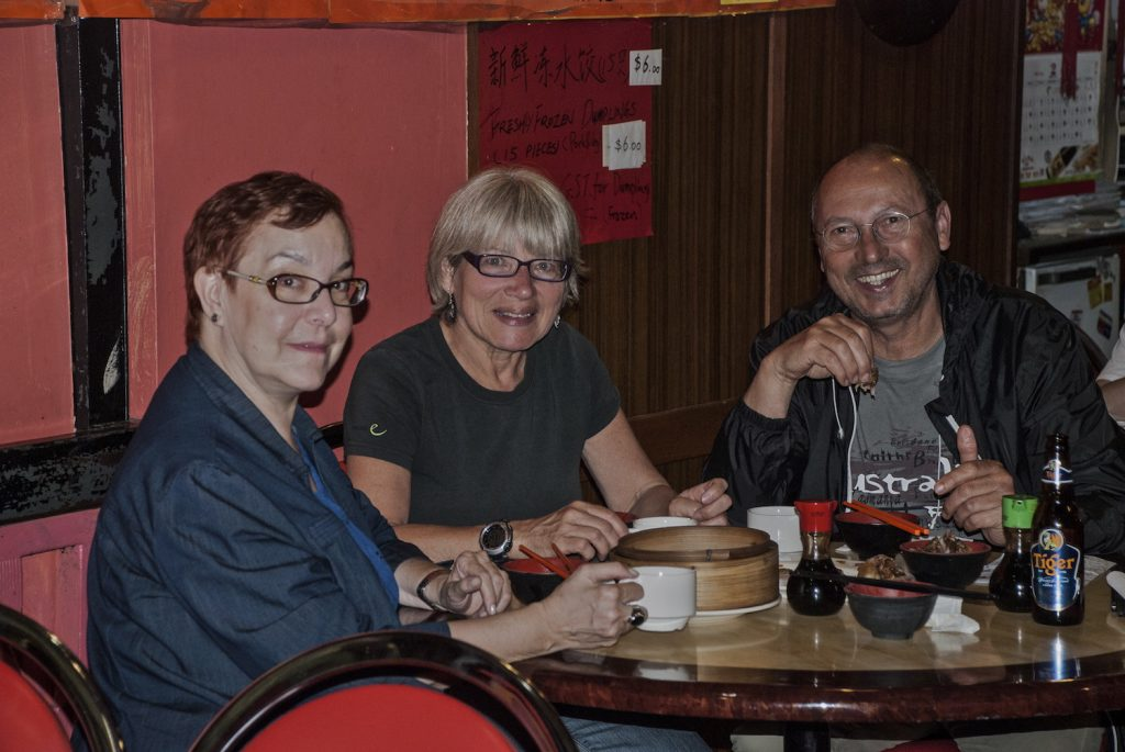 With Conny and Jocki at the Shanghai Inn