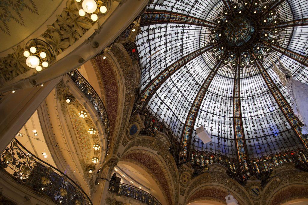 Atrium of the Galeries Lafayette Department Store