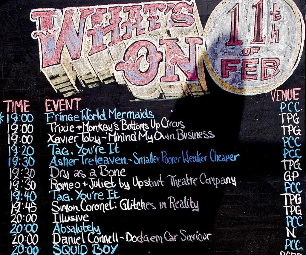 Fringe Festival Schedule